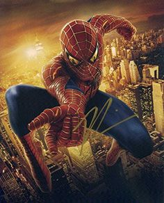 Tobey maguire SPIDERMAN In Person Autographed Photo @ niftywarehouse.com #NiftyWarehouse #Spiderman #Marvel #ComicBooks #TheAvengers #Avengers #Comics