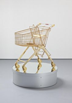 Gold-Plated Shopping Cart