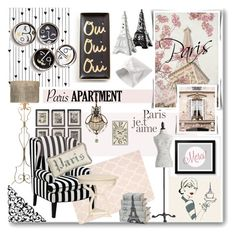 """Paris Apartment"" by j-sharon ❤ liked on Polyvore featuring interior, interiors, interior design, home, home decor, interior decorating, Camp, Uttermost, Universal Lighting and Decor and French Laundry Home"