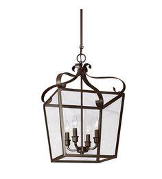 Sea Gull Lockheart 4 Light Hall/Foyer Pendant in Heirloom Bronze 5119404-782 #seagull #lightingnewyork #builder #outdoorlighting #lighting