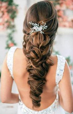 black braided hairstyle for wedding