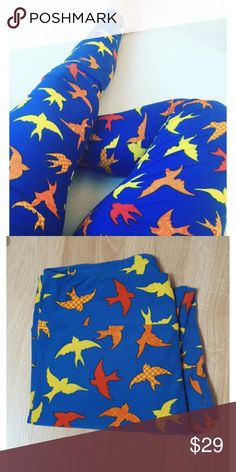 LulaRoe OS Sparrow Bird Leggings EUC LulaRoe OS leggings in excellent used condition - washed and dried per label directions, smoke-free home. No defects. LuLaRoe Pants Leggings