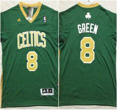 Boston Celtics Jersey  8 Jeff Green Green With Black Number Revolution 30  Authentic Jerseys Jeff 3924445d5