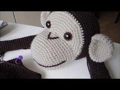 Háčkování Opice How to Crochet monkey toy - YouTube