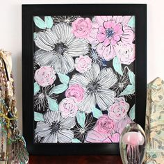 Paint flowers with this easy stop by step tutorial inspired by the amazing Alisa Burke and Elena Nuez.