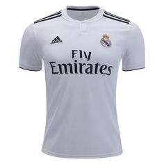 adidas Kids Real Madrid 18/19 Home Jersey Core White/Black - XL