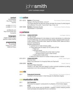 best resume layouts 2013 | latex templates » curricula vitae, Powerpoint templates