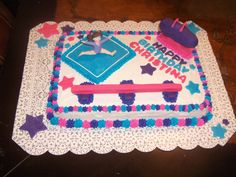 Gymnastics Cake - I made this a couple of years back for my daughter for her birthday at her gymnastics school in the summer. I am in search of new ideas for this year and thought I would post some of my past pictures.