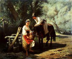 Костянтин Трутовський (1826–1893) - Сцена біля колодязя 1883 р