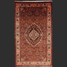 Vintage Semi Antique Persian Bidjar rug Iran / Persia 6.9 x 4.4 ft / 209 x 133 cm Bohemian rug