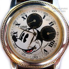 VINTAGE LORUS Disney MICKEY MOUSE WATCH Wristwatch Chronograph Mens Womens CUTE $350 .... BUY NOW at http://www.TropicalFeel.com