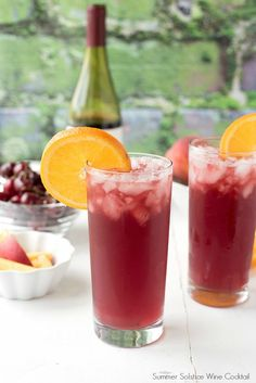 Summer Solstice wine cocktail. Refreshing with summer fruits. Will keep you cool even on the longest day of summer! BoulderLocavore.com #wine #cocktail #ad