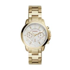 9a3bcc312c044 Fossil Womens Quartz Stainless Steel Casual Watch ColorGoldToned Model  ES4037 >>> You can get