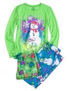 3 Piece Snowman Jersey Pajama Set