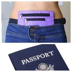 Samsonite 2 pocket travel waist belt belly wallet hidden secret pouch security makin 39 some for Travel gear hidden pocket