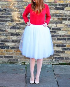 Clarisa  White Tulle Skirt Bridal Skirt Puffy Tulle by CestCaNY