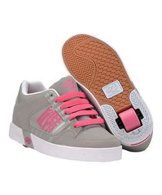 Love this Gray \u0026 Pink Caution Wheeled Sneaker by Heelys on Christmas girls