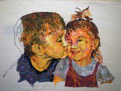 kissingcousins1 Choosing Fabric for Fabric Collage. Susan Carlson