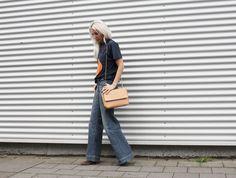 Madison Coco, Onlinemagazin, Bloggernetzwerk, Gemeinschaft, Blogger, Outfit, Look, Style, Ganni, Orange, flared Pants, Bandana