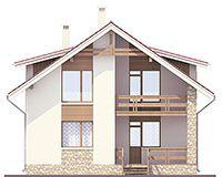 Проект коттеджа из пеноблока 59-77 :: Интернет-магазин Plans.ru :: Готовые проекты коттеджей Gazebo, House Plans, Shed, Outdoor Structures, Cabin, How To Plan, House Styles, Projects, Home Decor