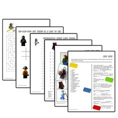 This free printable LEGO activity book has six pages of puzzles for older elementary kids. It includes two answer keys. See my other LEGO printables.