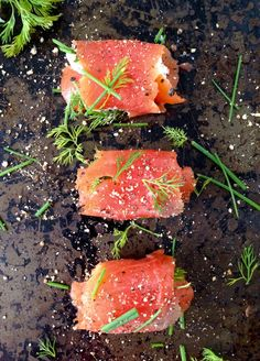 Quick and Easy, 5 Ingredient Smoked Salmon Appetizers with Mascarpone Cheese, Dill and Chives to Knock Your Socks Off!