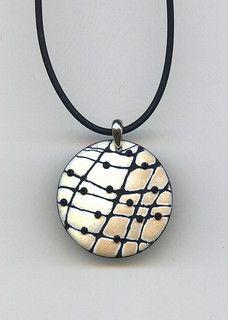 Beige Mosaic Pendant
