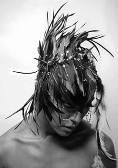 K.Nt - Leonie Biggs - mask by photog Types Of Photography, White Photography, Dark Beauty Magazine, She Is Clothed, Portraits, Masks Art, Glamour, Headgear, Headdress