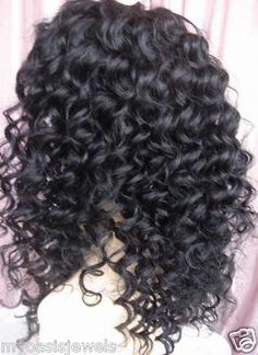 This is a FULL lace wig. You can style this wig just like regular hair, part it anywhere you like. But even if you have a head full of your own hair, you still can wear this wig. Pretty Hairstyles, Wig Hairstyles, Long Curly Weave, Brazilian Hair Wigs, Indian Human Hair, Black Curly Hair, Gorgeous Hair, Hair Type, Lace Wigs