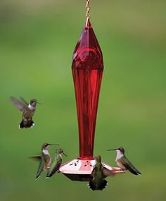Finally a humming bird feeder that doesn't look like cheap plastic on a piece of string.