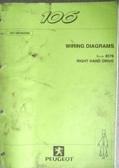 3ffa7b2800197a82aa7da8bb79434f78 peugeot car manuals peugeot 106 wiring diagram manual 368 gb 09 92 listing in the gm wiring diagram at edmiracle.co