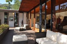 Mill Valley, CA // Stunning Country Club home by noted architect exudes a warm woodsy modernism.