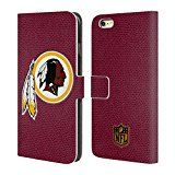 Official NFL Football Washington Redskins Logo Leather Book Wallet Case Cover For Apple iPhone 6 Plus / 6s Plus