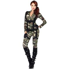 Results 181 - 240 of Find sexy Halloween costumes for women, men, and plus-size right here! Shop our selection for the best sexy Halloween costume ideas around! A revealing, sexy costume is sure to make your Halloween or cosplay event a memorable one. Army Halloween Costumes, Army Costume, Costume Sexy, Military Costumes, Bodysuit Costume, Adult Costumes, Christmas Costumes, Carnival, Womens Fashion
