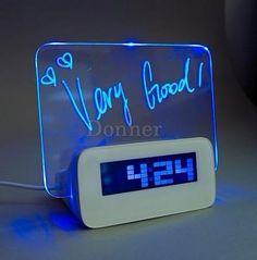 Auctionopia: USB Erasable Memo Marker Pen Board Alarm Clock Calendar LCD Backlight 4 Port Hubs