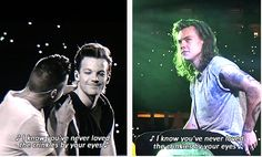 Larry Stylinson 2015    Harry watching LiLo on the big screen.(:
