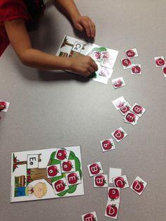 Free: apple tree letter discrimination sorting activity Preschool Apple Theme, Apple Activities, Pre K Activities, Fall Preschool, Autism Activities, Preschool Education, Kindergarten Literacy, Alphabet Activities, Letter Identification