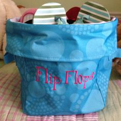 I am so doing this...it's a flip flop bin!!!  www.mythirtyone.com/laurat