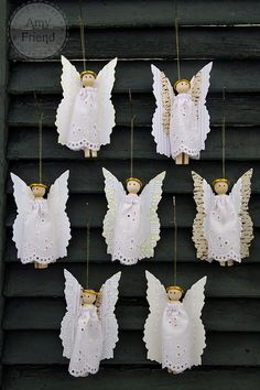 Sizzix: Die Cutting Inspiration and Tips: Die Cutting Paper: On Angels' Wings Ornaments