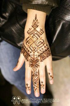 henna in Baltic patterns Henna Tattoo Designs, Mehndi Tattoo, Henna Mehndi, Mehndi Designs, Henna Body Art, Henna Art, Body Art Tattoos, Tatoos, Slavic Tattoo