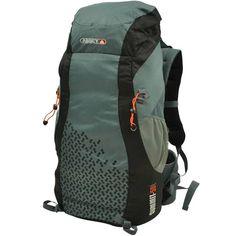 384c1441bcd Deze Abbey Backpack 55 Liter Grijs sluit je af met ritsen en met behulp van  slotjes