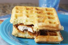 Fried Chicken and Waffle Sandwich   Taste for Adventure - Unusual, Unique & Downright Awesome Recipes