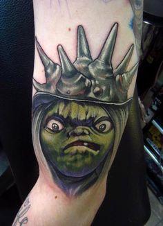 The Labyrinth Jim Henson goblin puppet david bowie fantasy film arm color tattoo :