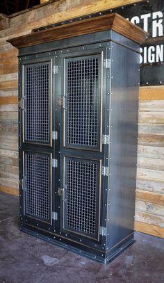Vintage Industrial Storage Cabinet: