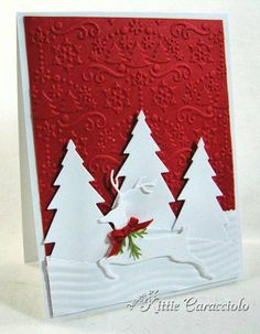 Leaping Deer Silhouette by kittie747 - Cards and Paper Crafts at Splitcoaststampers