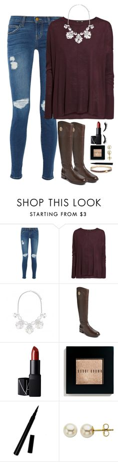 """""""Thanksgiving"""" by meljordrum ❤ liked on Polyvore featuring Current/Elliott, H&M, Forever New, Tory Burch, NARS Cosmetics, Bobbi Brown Cosmetics, Lord & Taylor and Kate Spade"""