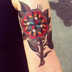 Jonas Geometric Traditional Tattoos Make Have a Patterned Twist #design #creativity trendhunter.com