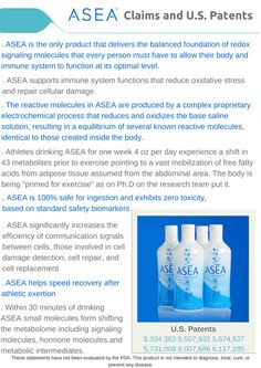 Is ASEA just salt and water?  Would the US government give multiple patents if it was just a solution that you could mix up in your kitchen??? I don't think so! www.newhealth4u.net