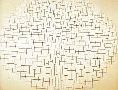 Piet Mondriaan - Compositie 10 in zwart wit, Pier en Oceaan - 85x108cm