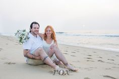 Beach Wedding portrait at sunrise by Rox Photography of Ocean City, MD:  https://www.roxbeachweddings.com/